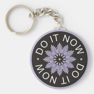 Motivational 3 Word Quotes ~Do It Now~ Basic Round Button Key Ring