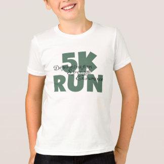 Motivational 5K Run Green Sports Running Tee Shirts