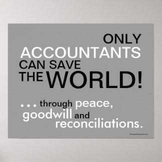 Motivational Accountant Slogan Poster
