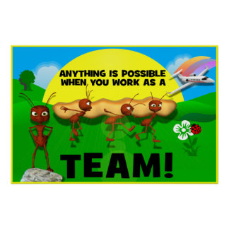 Motivational Ants Teamwork Poster