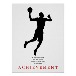 Motivational Basketball Player Poster