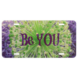 Motivational Be You Quote License Plate