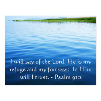 Motivational. Bible Verse Psalm 91:2 Postcard