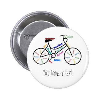 Motivational Bike, Bicycle, Cycling, Sport, Hobby 6 Cm Round Badge