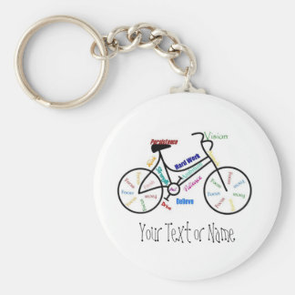 Motivational Bike, Bicycle, Cycling, Sport, Hobby Basic Round Button Key Ring