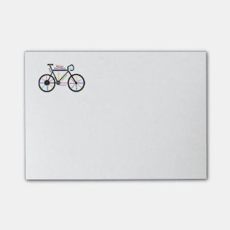 Motivational Bike, Bicycle, Cycling, Sport, Hobby Post-it Notes