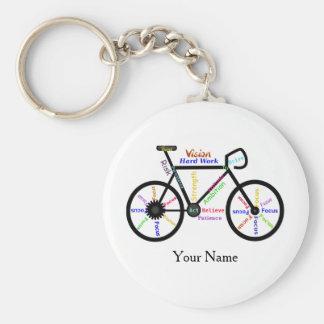 Motivational Bike, Cycle, Biking Sport Custom Name Key Ring
