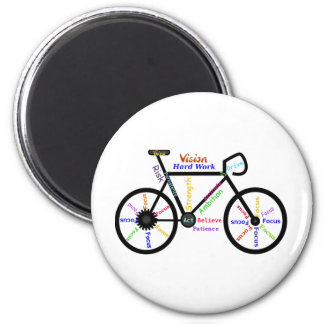 Motivational Bike, Cycle, Biking, Sport Words 6 Cm Round Magnet