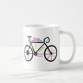 Motivational Bike, Cycle, Biking, Sport Words Basic White Mug