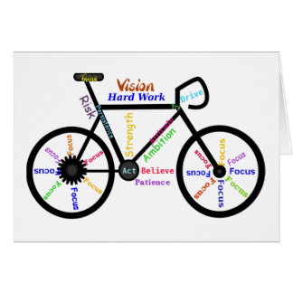 Motivational Bike, Cycle, Biking, Sport Words Card
