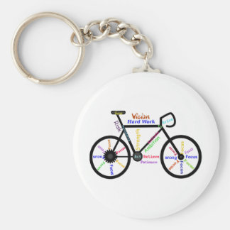 Motivational Bike, Cycle, Biking, Sport Words Key Ring