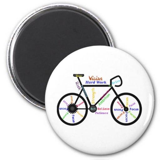 Motivational Bike, Cycle, Biking, Sport Words Magnets