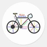 Motivational Bike, Cycle, Biking, Sport Words Round Sticker