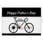 Motivational Bike  Words and Verse  Father's Day Card