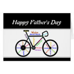 Motivational Bike  Words and Verse  Father's Day Greeting Card