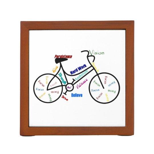 Motivational Bike Words for Sport Cycle Fans Desk