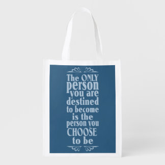 Motivational CHOICE custom bag