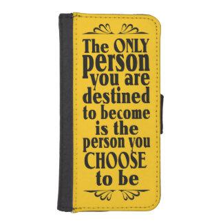Motivational CHOICE custom color phone wallets