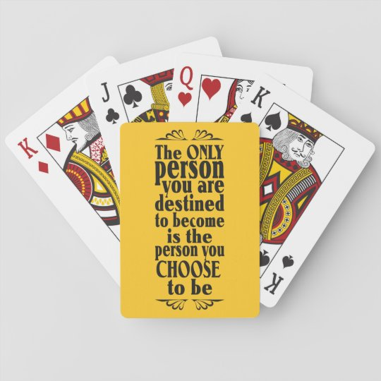 Motivational CHOICE custom color playing cards