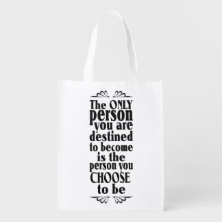 Motivational CHOICE custom color & text bag