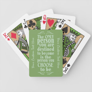 Motivational CHOICE custom playing cards