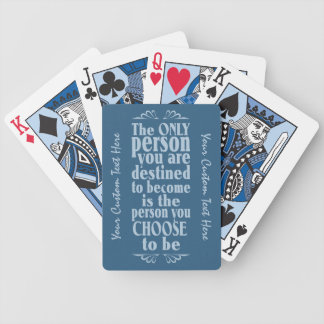 Motivational CHOICE custom playing cards