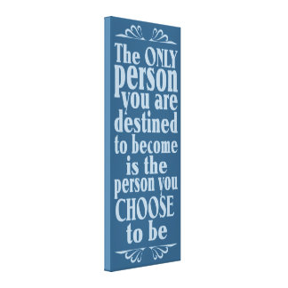 Motivational CHOICE wrapped canvas print