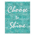 Motivational Choose to Shine Quote Poster