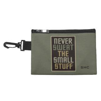 Motivational custom monogram accessory bags