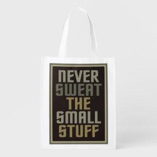 Motivational custom reusable bag