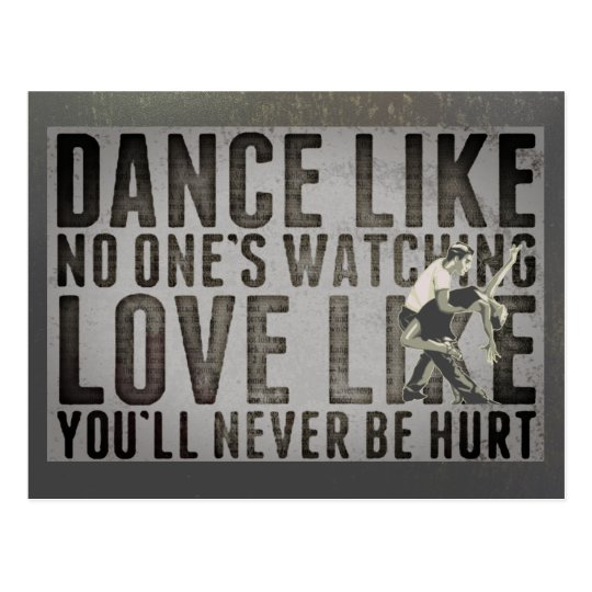 Motivational Dancing Couple Slogan Postcard