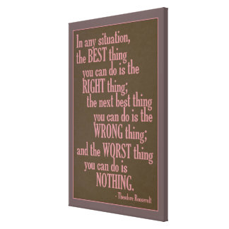 "Motivational ""Do Something"" Quote canvas print"