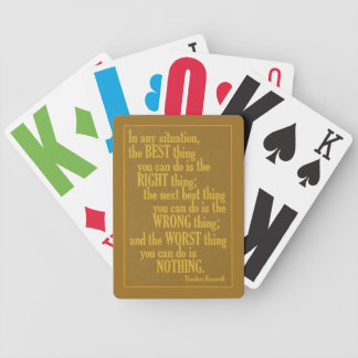 "Motivational ""Do Something"" Quote playing cards"
