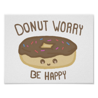 Motivational Doughnut Poster