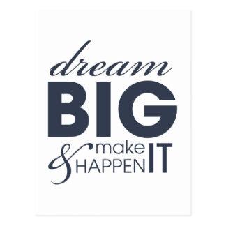 Motivational Dream Work Success Postcards