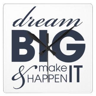 Motivational Dream Work Success Wall Clock