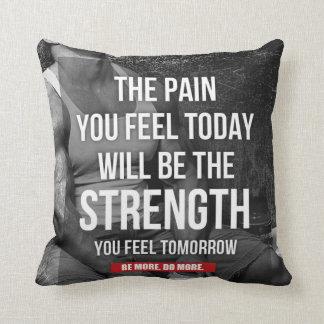 Motivational Fitness Gym Throw Cushion