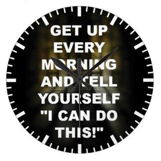 Motivational Fitness Gym Wall Clock