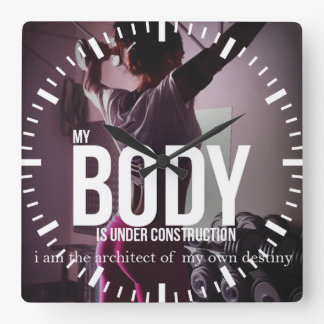 Motivational Fitness Gym Wallclocks