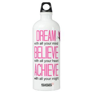 """Motivational"" Fitness Traveler WATER BOTTLE SIGG Traveller 1.0L Water Bottle"