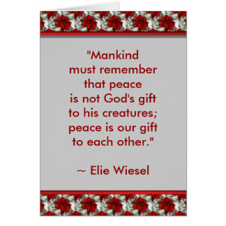 Motivational Greeting Card (Elie Wiesel)