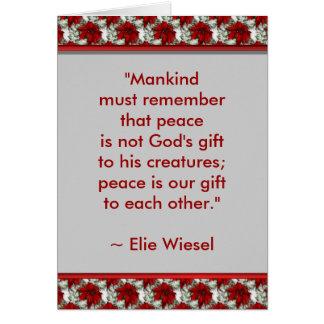 Motivational Greeting Card (Elie Wiesel)