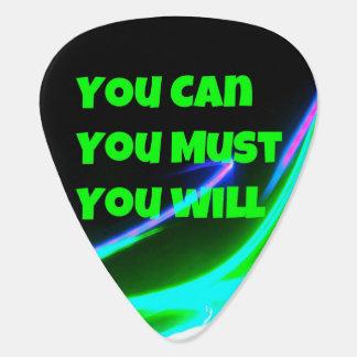 Motivational Guitar Plectrum