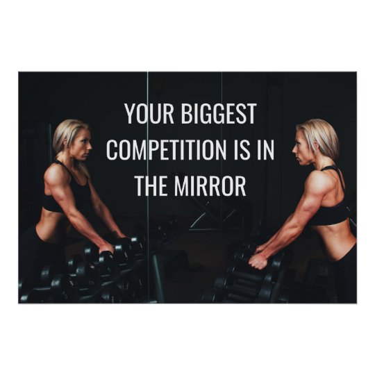 Motivational Gym Workout Competition Quote Poster