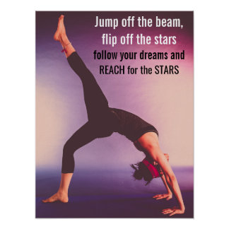 Motivational Gymnastics Quote Poster