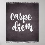 Motivational Inspiration: Carpe Diem Quote Poster