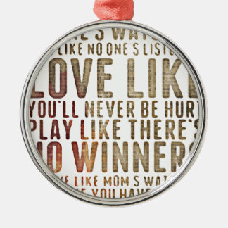 motivational inspirational christmas ornament