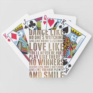 motivational inspirational poker deck