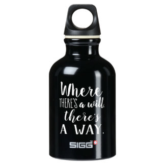 Motivational Inspirational Quote Saying Typography Water Bottle