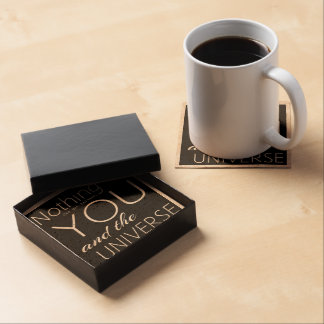 Motivational it's all Black and White Beverage Coasters